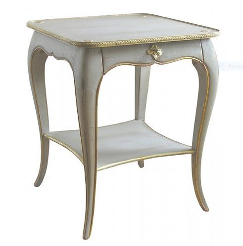 PARIS Louis XV Side Table in Gray