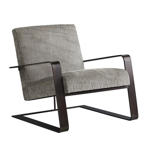 Black Iron Chair with Gray Velvet