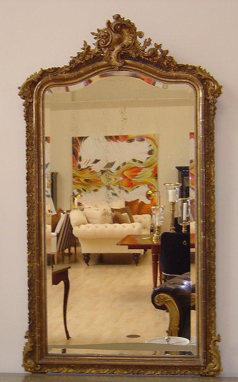 Antique French 'Chapeau de Gendarme' Mirror