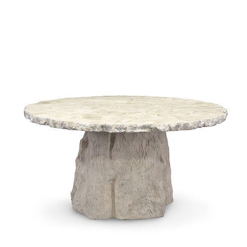 Fossilized Clam Dining Table