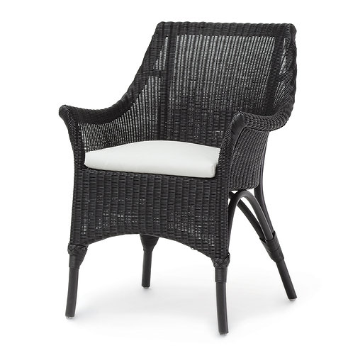 Pair / Square Arm Dining Chair in Black