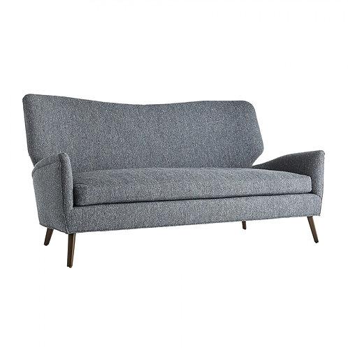 Indigo Blue Boucle Sofa