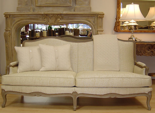 PARIS Valliere Sofa in Ivory ~ Made in France