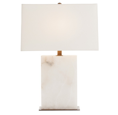 Rectangular Snow Marble Table Lamp