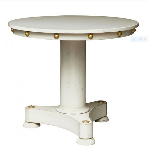 PARIS Empire Occasional Table with Cabochons in Blanc
