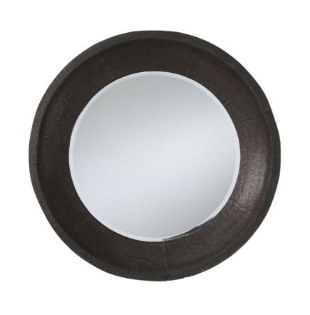 Oxidized Iron Round Mirror