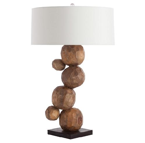 Wood Orb Table Lamp