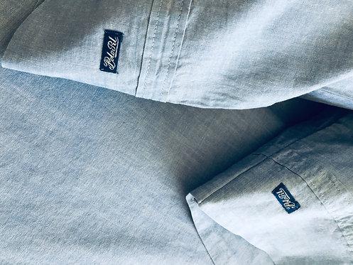 NEW S/4 Ralph Lauren Polo Blue Chambray Queen Sheet Set