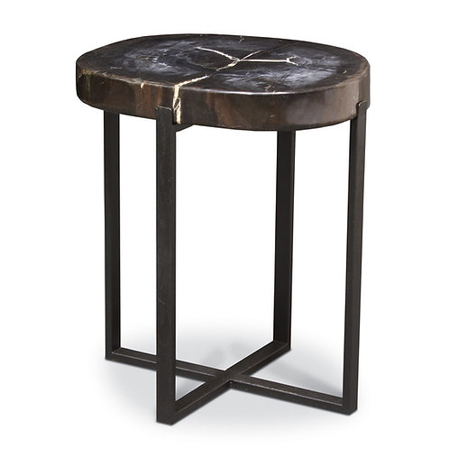 Black Petrified Wood Occasional Table / Large