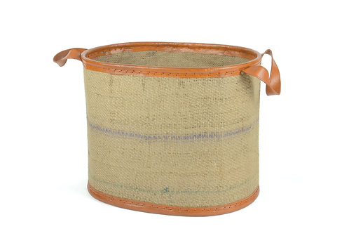 Jute with Leather Magazine / Wood Storage