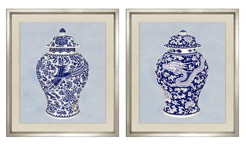 Fourmaintraux Vases / Set of 2