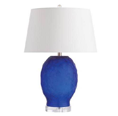 Cobalt Glass Table Lamp