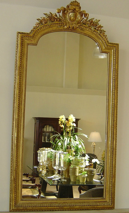 Antique French Napoleon III Mirror