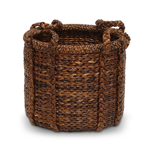 Abaca Giant Round Kindling Basket
