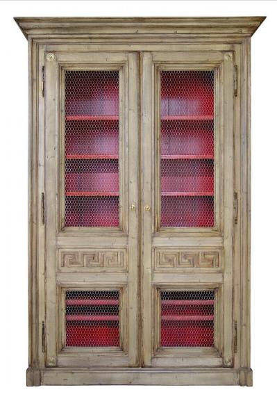 PARIS Greek Bookcase / Armoire in Stripped Oak
