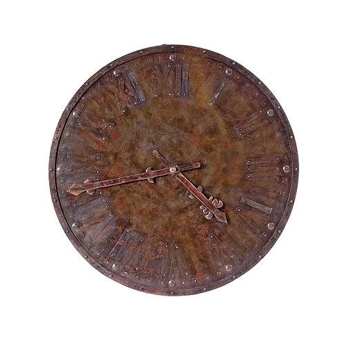 Station Clock in Rust Finish