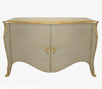 PARIS Louis XV Commode Buffet in Taupe