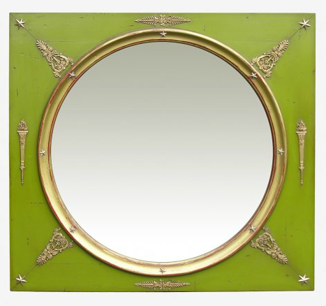 PARIS Miroir De Boiserie XVIII Vert