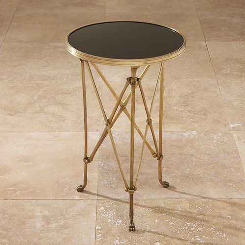 Directoire Table Brass and Black Granite