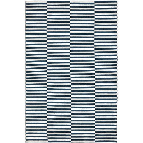 Ralph Lauren Cameron Stripe Indigo/Surf 8 x 10