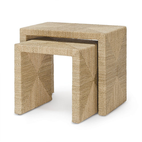 Seagrass Rope Nesting Tables Set of 2