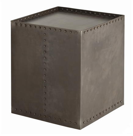 Natural Iron Cube Side Table