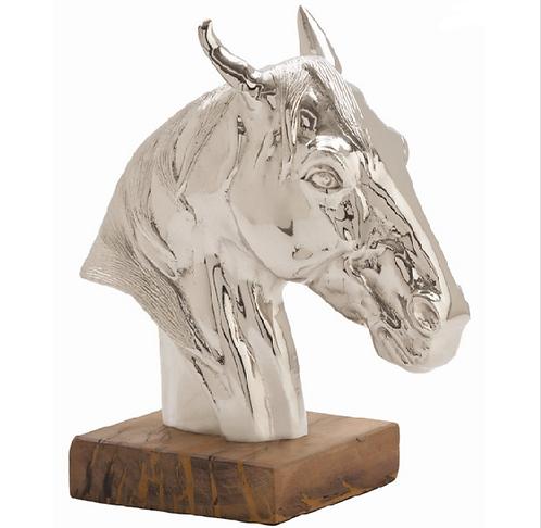Horse Sculpture Polished Nickel