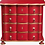 Thumbnail: PARIS Dutch Chest of Drawers in Rouge