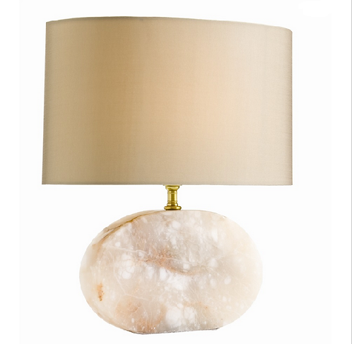 Oval Snow Marble Table Lamp