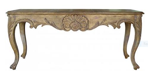 PARIS Regency Console Table in Stripped Oak