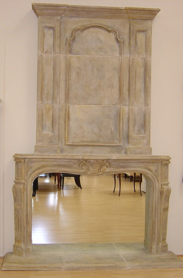 French Fireplace Mantel with OverMantel