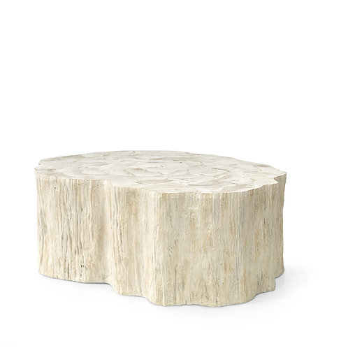 Fossilized Clam Stump Cocktail Table in Ivory