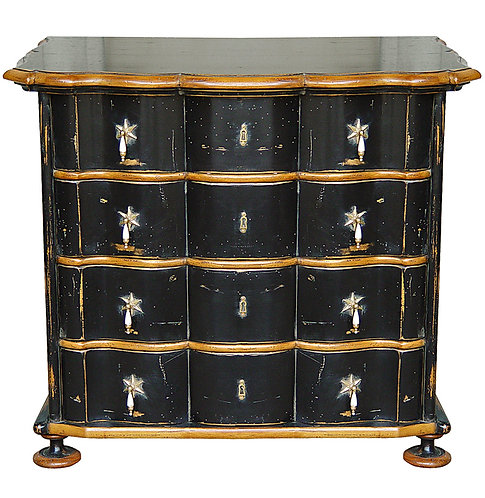 PARIS Dutch Style Chest of Drawers Noir