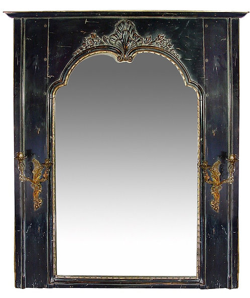 PARIS Mirror in Regence Style in Noir