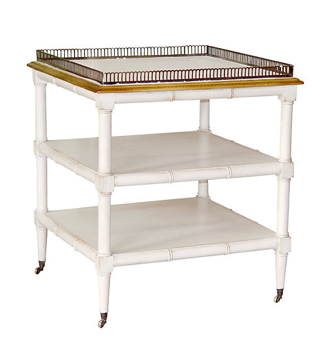 PARIS Table Bambou in Blanc