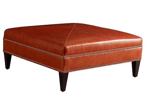 Leather Cocktail Ottoman Square