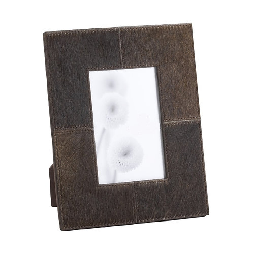 Chestnut Hair on Hide Leather Frame 4 x 6