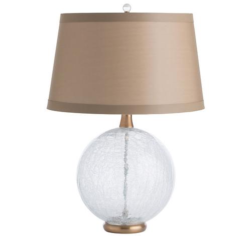 Crackled GlassTable Lamp
