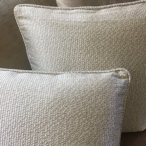 PAIR Ralph Lauren Argentum Weave Silver Decorative Pillows / Set of 2