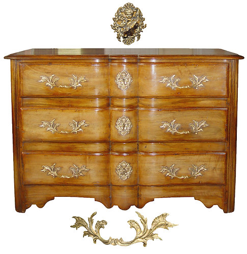 PARIS Louis XIV Arbalete Chest of Drawers in Waxed Walnut