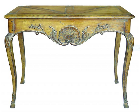 PARIS Console with Drawer in Waxed Oak