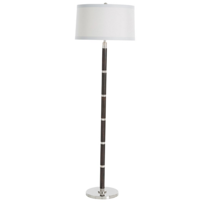 Polished Nickel Banded Floor Lamp