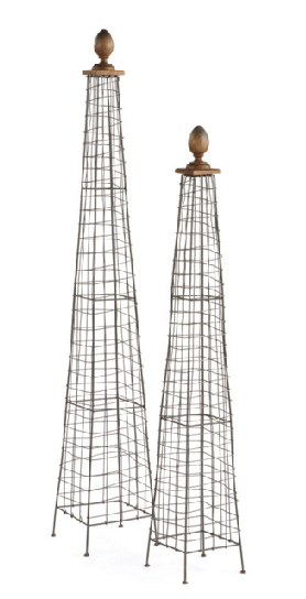 S/2 Tuteurs with Wood Finials