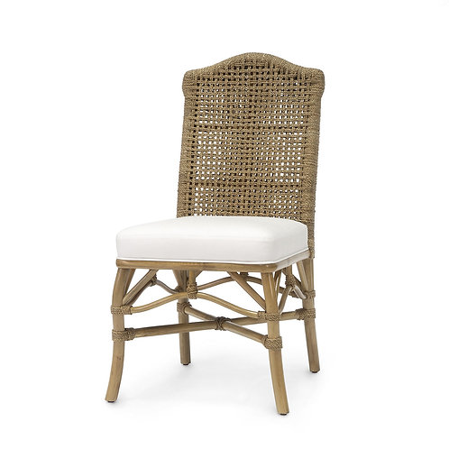 Woven Rope and Rattan Dining Chair