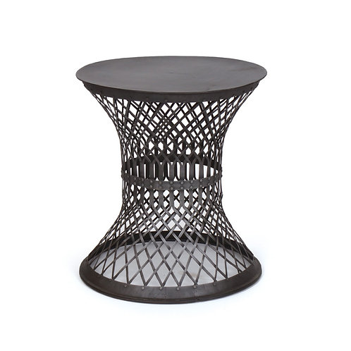 Blackened Iron Side Table