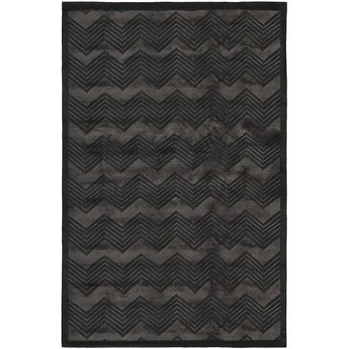 Ralph Lauren Monroe Chevron Onyx 8 x 10