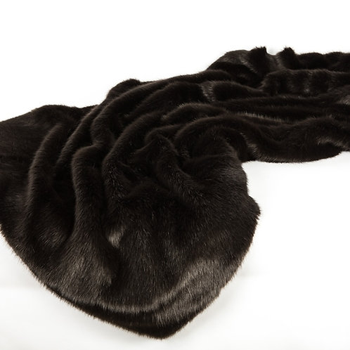 Faux Mink Throw Sable