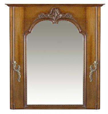 PARIS Mirror in Regence Style in Waxed Cherry