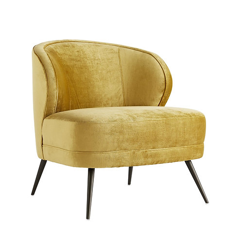 Occassional Chair in Marigold Velvet