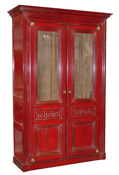 PARIS Greek Bookcase / Armoire in Rouge